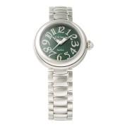 【76%OFF】ラウンドウォッチ ウィメンズ ケース:グリーン ベルト:シルバー ファッション > 腕時計~~レディース 腕時計