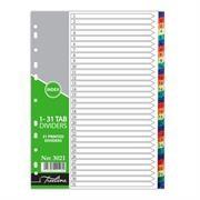 Treeline File Divider Plastic Tab1-31, Retail
