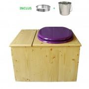 Toilette sèche - La Bac Violet prune Inox huilée