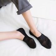 1 Pair Fashion Women Girls Summer Style Lace Flower Short Sock Antiskid Invisible Ankle Socks
