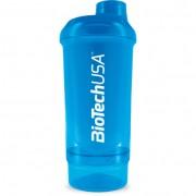 BioTechUSA Wave+ Compact Shaker 500ml (+150ml) - Kék