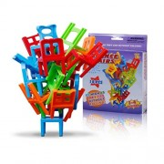 ELECTROPRIME® Chairs Stacking Tower (18 Pieces) Balancing Game Family Board Games For Kids