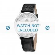 Festina Bracelet de montre Festina F6806-1 Cuir croco Noir 20mm