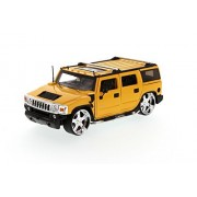 Hummer H2 SUV, Yellow - Jada Toys Dub City 50549 - 1/24 scale Diecast Model Toy Car (Brand New, but NO BOX)