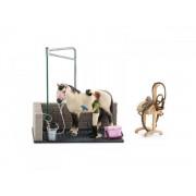 Schleich Figurine schleich box de lavage pour chevaux