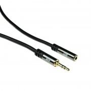 ACT 3.5mm Jack Male naar Female Audio Kabel 10 Meter - Zwart