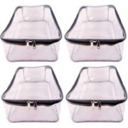 ultimatefashionista garment cover High Quality Travelling Bag Pack of 4 Pieces Large Transparent Shirt Cover Saree Cover storage Bag Organizer Bag vanity travelling pouch Garments Cover Keeps Upto 12-15 Saree each (Transparent) 4pc shirt cover(t.p)(Grey)