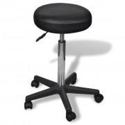 vidaXL Skrivbordsstol utan ryggstöd Svart