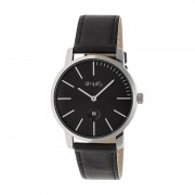 Simplify The 4700 Leather-Band Watch w/Date - Silver/Black SIM4702