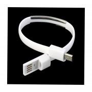 EH Teléfono Android Cable De Carga Micro USB 2.0 Pulsera Pulsera De Línea De Datos-Blanco
