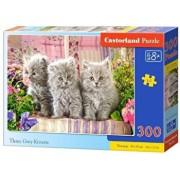 Puzzle Trei pisicute gri, 300 piese