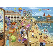 Bits and Pieces - 1000 Piece Jigsaw Puzzle for Adults - Ice Cream on the Boardwalk - 1000 pc Beach
