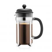 Bodum CAFFETTIERA Cafetière à piston avec couvercle en plastique, 8 tasses, 1.0 l, acier inox Noir