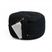 Dille&Kamille Pouf ergonomique, coton, noir