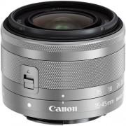 Canon EF-M 15-45mm F/3.5-6.3 IS STM - Argento - 4 Anni Di Garanzia - BULK