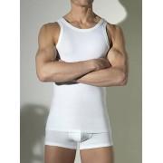 Hom Классическая мужская майка белого цвета HOM First Cotton 03254cW5