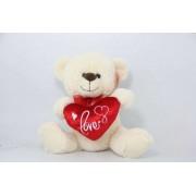 Peach Love Teddy Bear with Heart