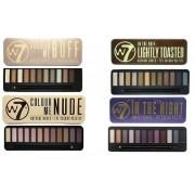 W7 Cosmetics W7 Ögonskugga paletter - (färg mig Buff' + färg mig Nude + i natt + lätt rostad)