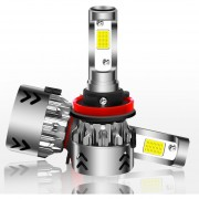 2 Pcs H11 27W 3000lm 6000K Blanco Puro COB Chips LED Faro Bombillas Conversion Kit, DC 9-36v