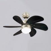 Westinghouse Deckenventilator, 76 cm, Beleuchtung, gebürsteter Stahl, Flügel Wenge