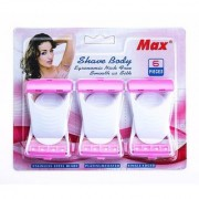 MAX Set of 6 Underarms women Hair Removal Razor Disposable shaver Ladies hair remover Skin Blade