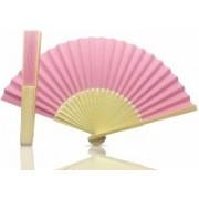 CART OF CRAFTS Foldable Self Design Pink, Beige Hand Fan(Pack of 1)