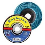 Disc lamelar conic JUMBO cu zirconiu pentru inox / metal