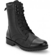 Benera Full Leather High Ankle Boot Boots For Men(Black)