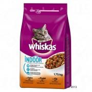 - 2х800г 1+ Indoor Whiskas, суха храна за котки с пилешко
