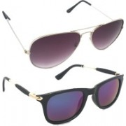 Fash-On india Aviator Sunglasses(Blue, Multicolor)
