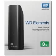 "Hard Disk Extern Wd, WDBWLG0030HBK, 3TB, Elements, 3.5"", USB3.0, Negru"