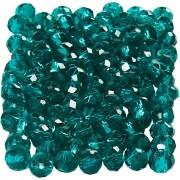 Creativ Company Facettpärlor, stl. 3x4 mm, hålstl. 0,8 mm, 100 st., smaragdgrön