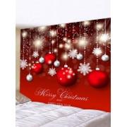 Rosegal Tapisserie Murale Décorative Imperméable Imprimé Boules de Noël Largeur 91 x Longueur 71 pouces
