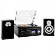 TT-190 Stereoanlage Plattenspieler MP3-Aufnahme CD-Player SD USB Kassette