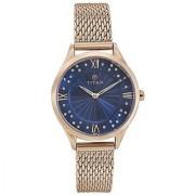 Titan Purple AW-14 Analog Blue Dial Womens Watch - 95020WM02J
