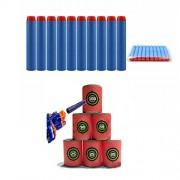 Generic 100PCS Light Blue Refill Bullets Dart For Nerf N-strike Elite Rampage Retaliator Series One Piece