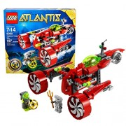 Atlantis Lego Year 2010 Atlantis Series Special Edition Set # 8080 - UNDERSEA EXPLORER with Torpedo Launcher and Grappling Arm Treasure Key Sea Serpent and Diver Minifigure