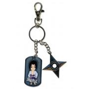 Naruto Shippuden: Chibi Sasuke Dog Tag & Shuriken Key Chain