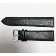 SZ1350 fekete bőr óraszíj 22-es