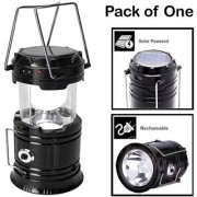 LED Rechargeable Solar Power Camping Lantern Flashlight Torch Outdoor Lamp Torch Light With Phone Charging Multicolor