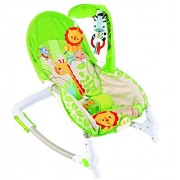 Baybee Newborn-to-Toddler Baby Rocker Cum Baby Bouncer with Soothing Vibration & Musical Toy (Mixed Green)