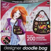 next STYLE FASHION ART Designer Doodle Bag Kit (Includes 20 Design Accessories and Tote Bag)