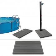 vidaXL Podlahový prvok pre solárnu sprchu/rebrík v bazéne, drevoplast