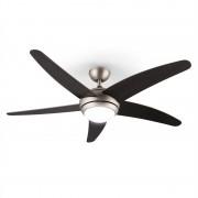 Klarstein Bolero вентилатор за таван с лампа, 134см перки от орех, дистанционно управление (VTS6-BoleroWalnuss)