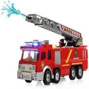 Spray Water Gun Firetruck Juguetes Firefighter Fire Truck Vehicles Car Music Light Cold For Kids Toy