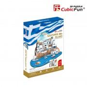 Insula Santorini - Puzzle - 3D - 129 de piese