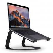 TwelveSouth Curve - ергономична алуминиева поставка за MacBook и преносими компютри (черна)