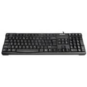 Tastatura A4Tech KR-750, cu fir, US layout, neagra, Natural_A Shape Key, Laser inscribed keys, USB