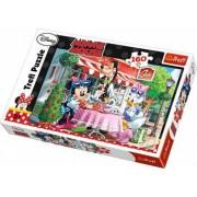 Puzzle clasic pentru copii - Minnie Mouse si Daisy la cafea 160 piese