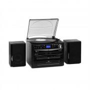 Auna 388-DAB+, sztereó rendszer, max. 20 W, lemezek, CD, kazetták, BT, FM/DAB+, USB, SD, fekete (MG-388DAB+)
